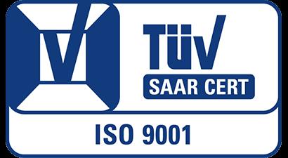 TÜV SAAR CERT ISO 9001